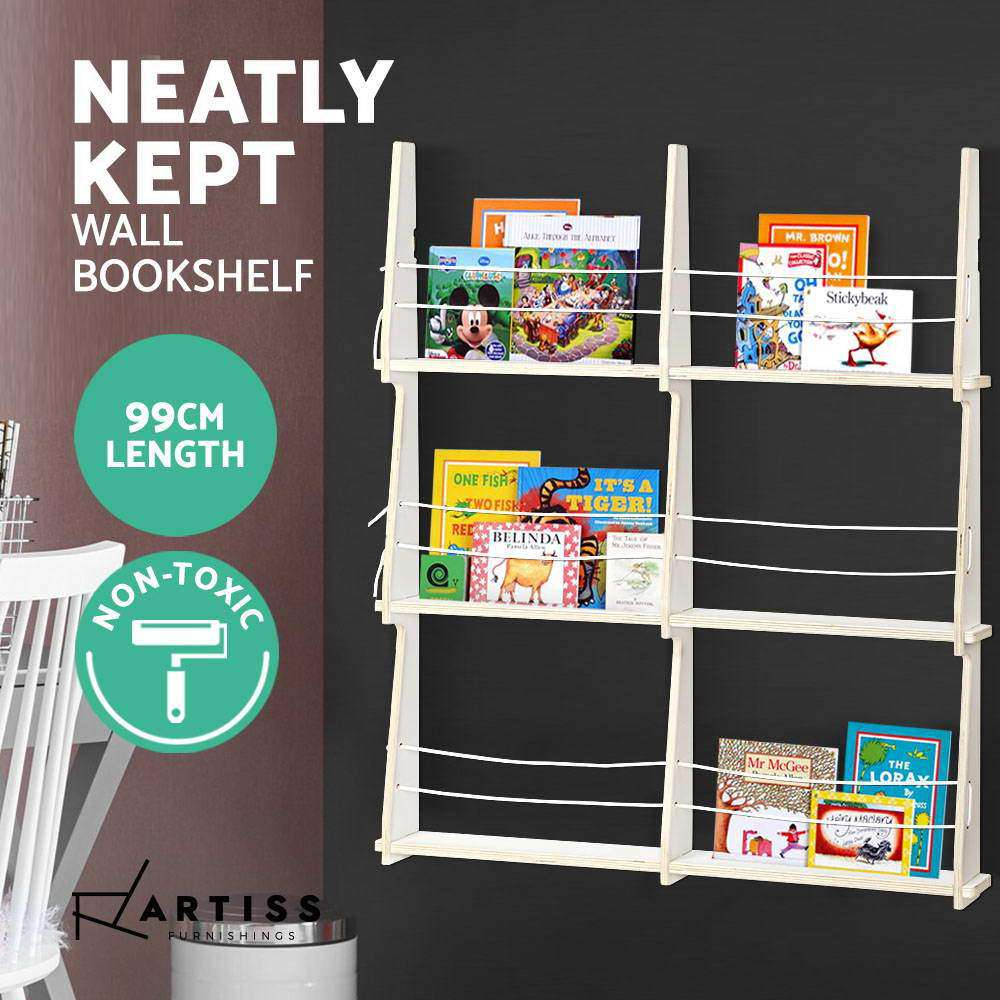 Artiss Wall Floating Shelf Kids Display Furniture Children Bookshelf