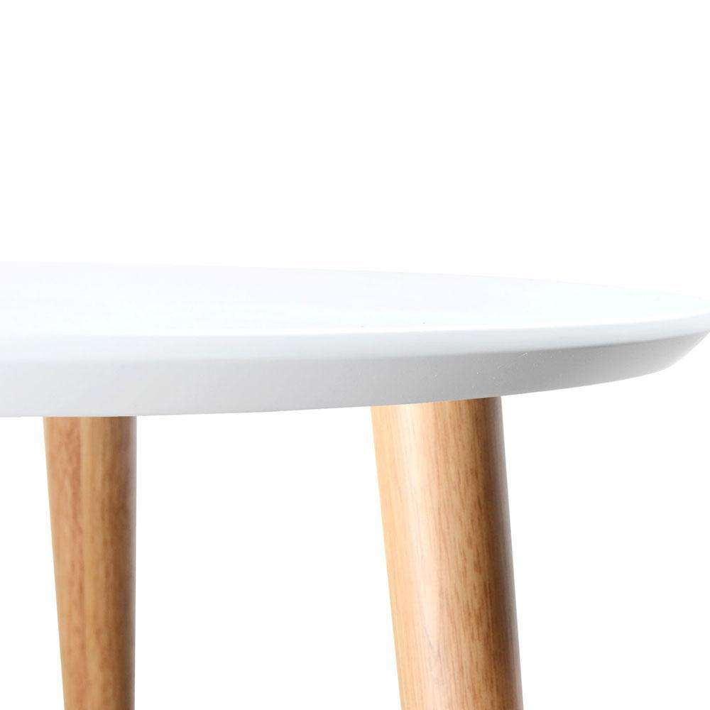 Round Side Table – White - Desirable Home Living