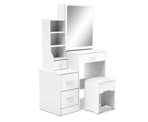 Artiss Dressing Table Stool Mirror Jewellery Cabinet Drawer White