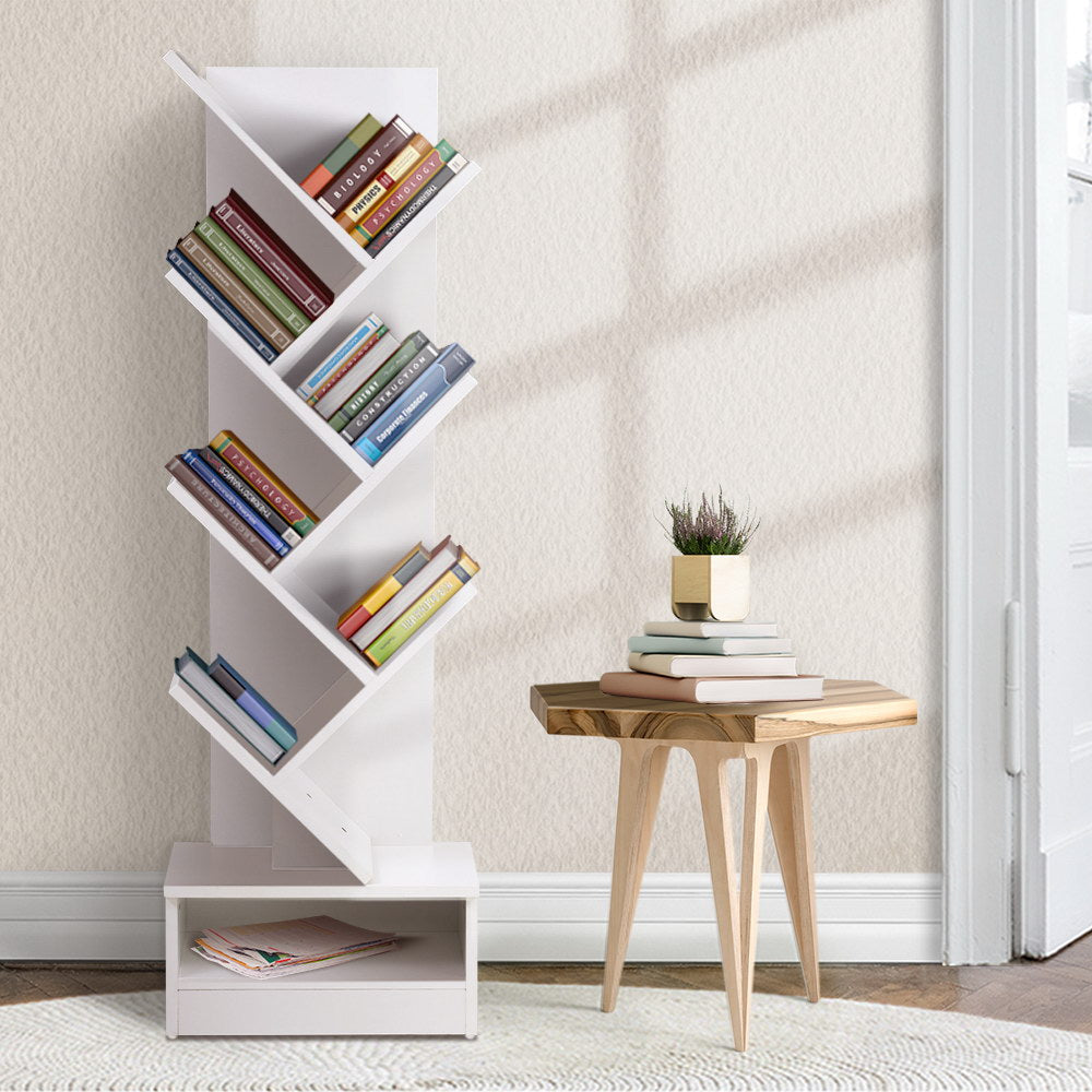 Artiss Display Shelf 7-Shelf Tree Bookcase White