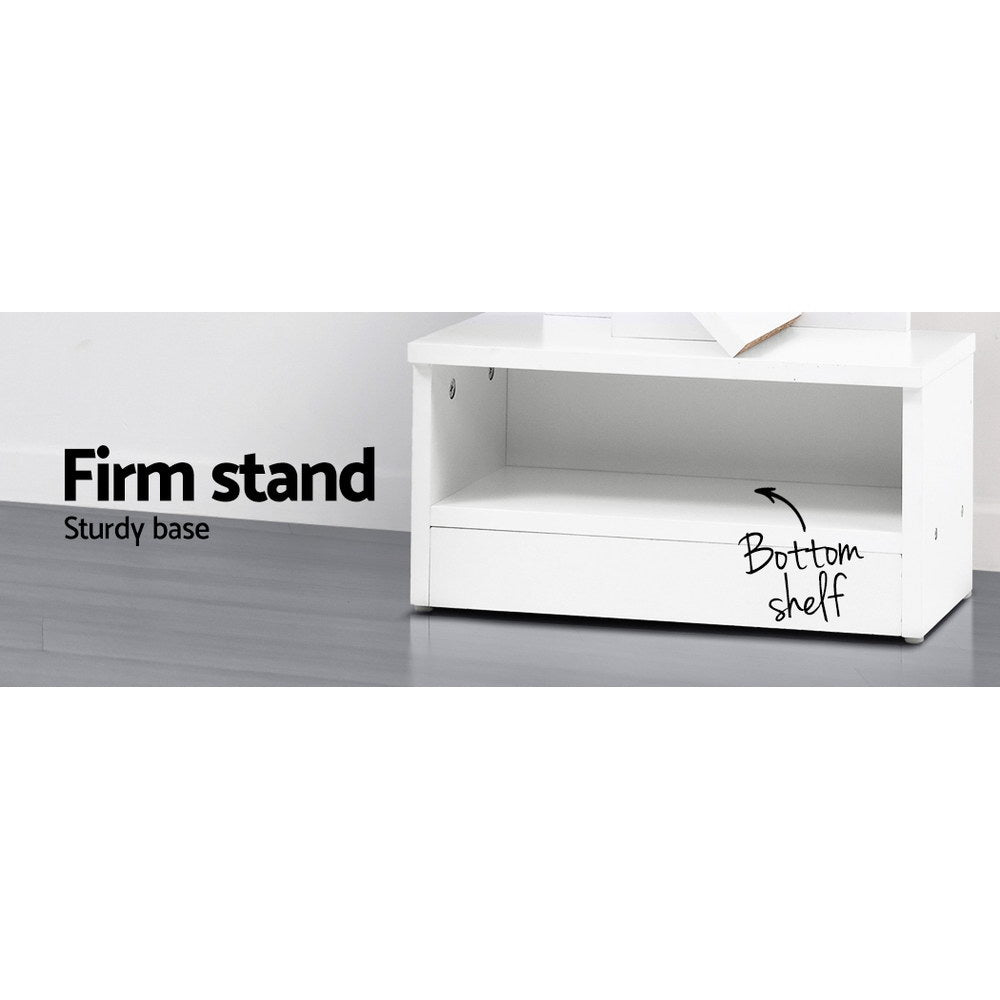 Artiss Display Shelf 9-Shelf Tree Bookcase White