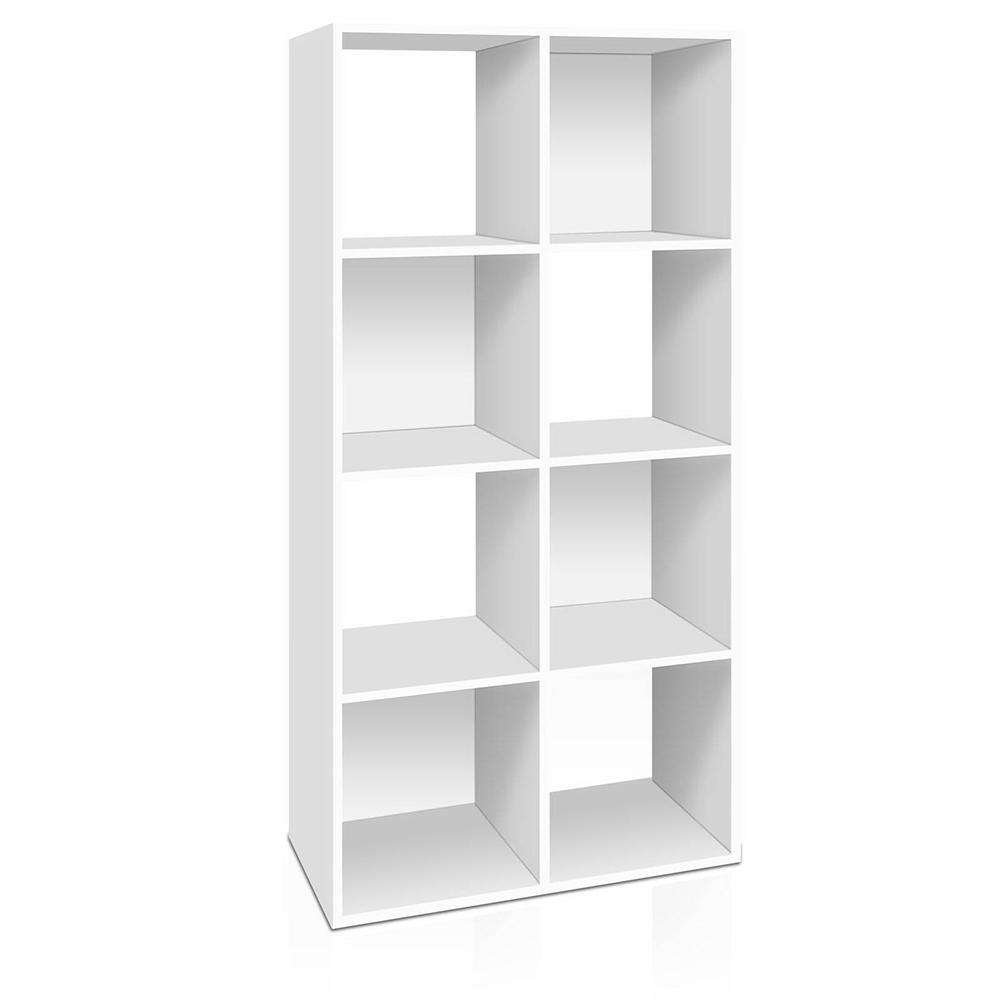 8-cube Display Storage Shelf White