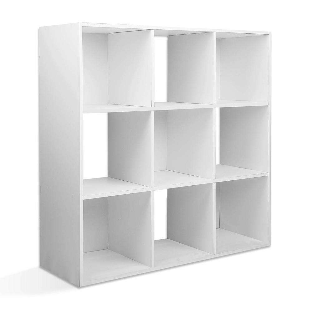 9-cube Display Storage Shelf White