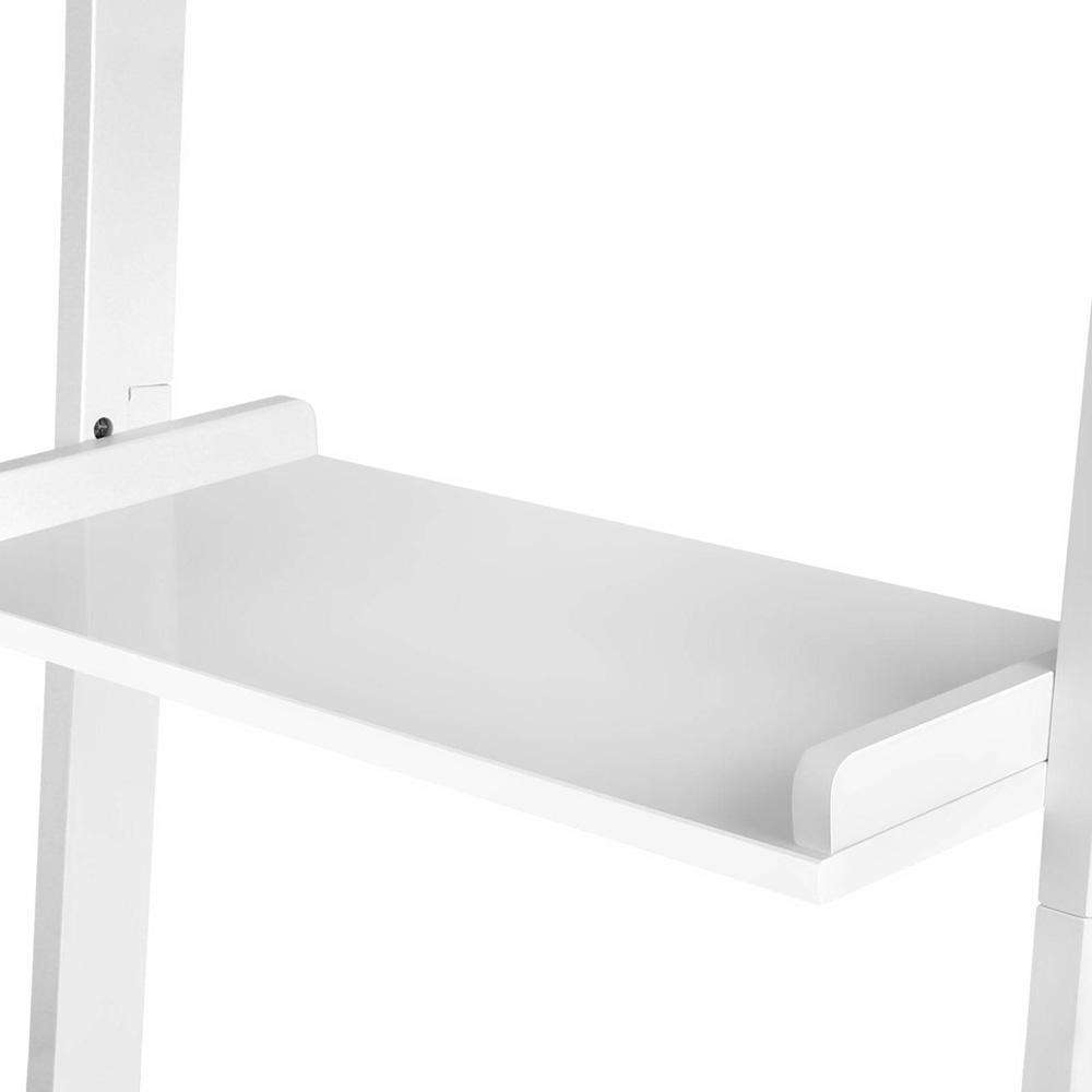 Artiss 5 Tier Wooden Ladder Wall Shelf Rack - White