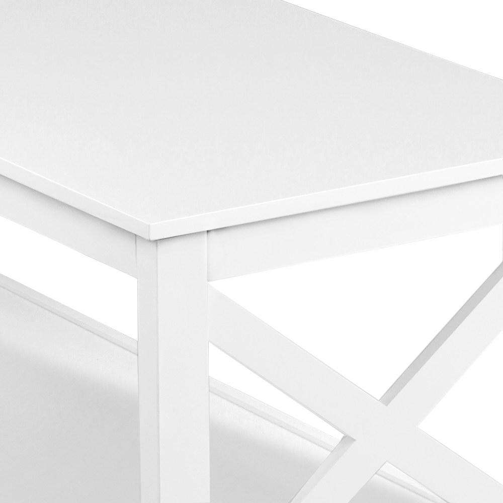 Artiss Wooden Storage Console Table - White