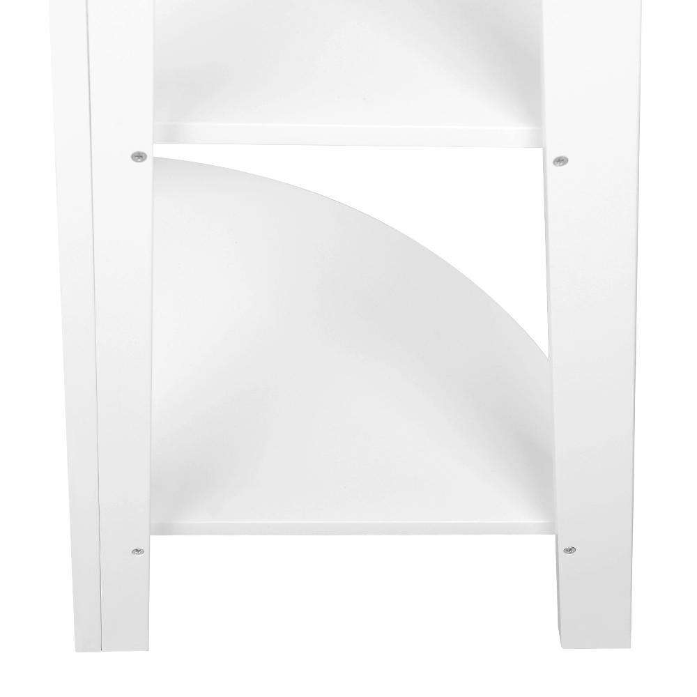 Artiss 5 Tier Corner Ladder Bookshelf - White