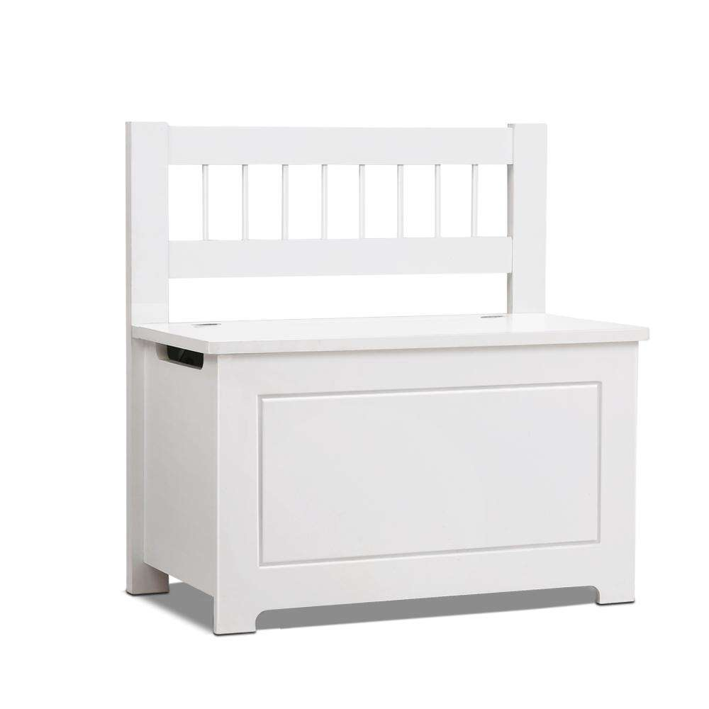 Kids Toy Box Storage Cabinet - White