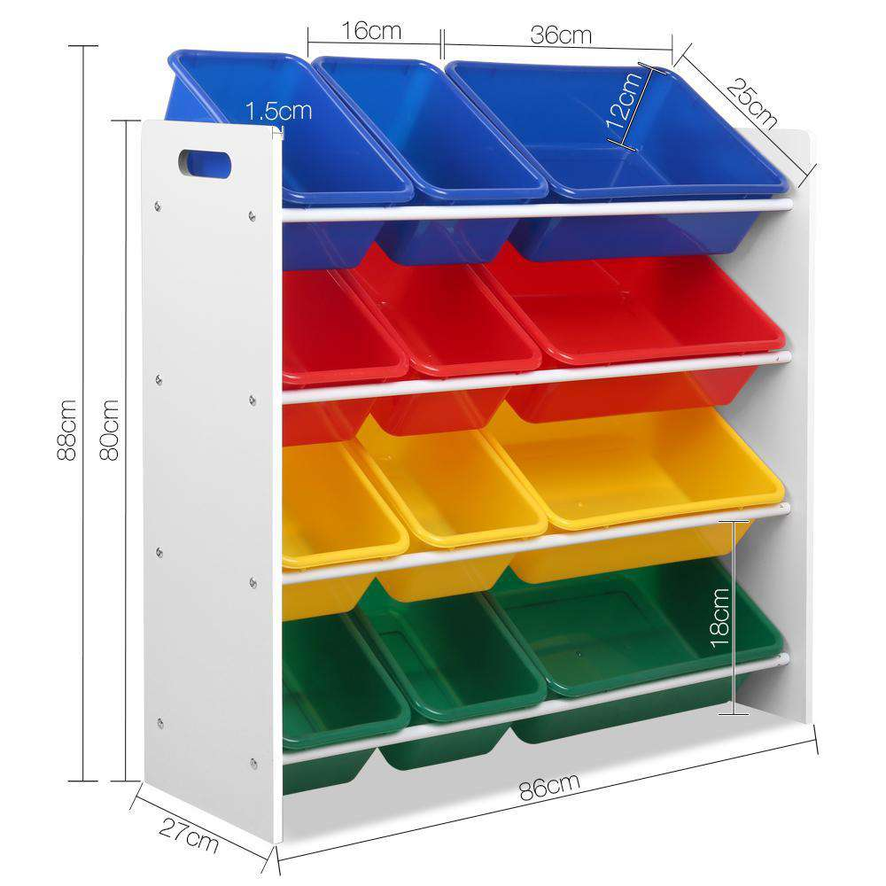 Artiss 12 Bin Toy Organiser Storage Rack