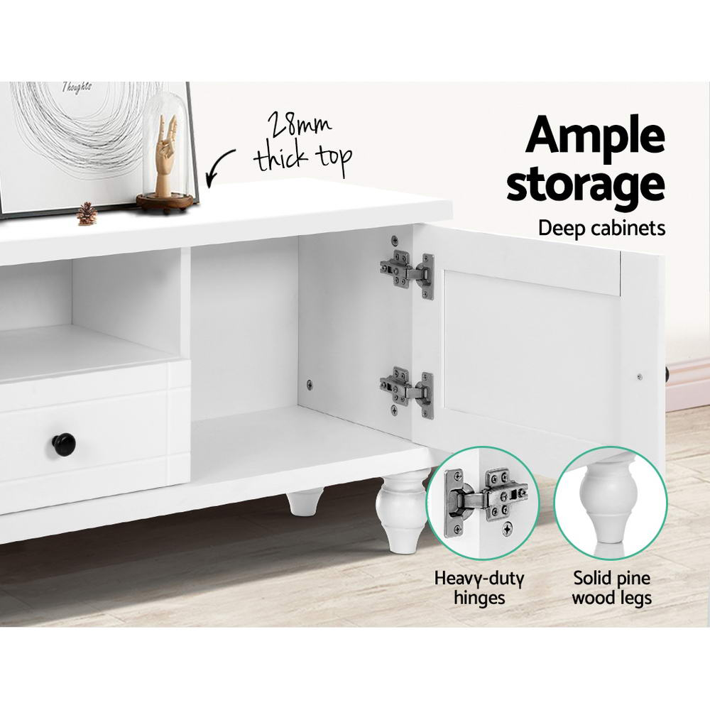 Artiss 162cm TV Stand Entertainment Unit French Provincial White