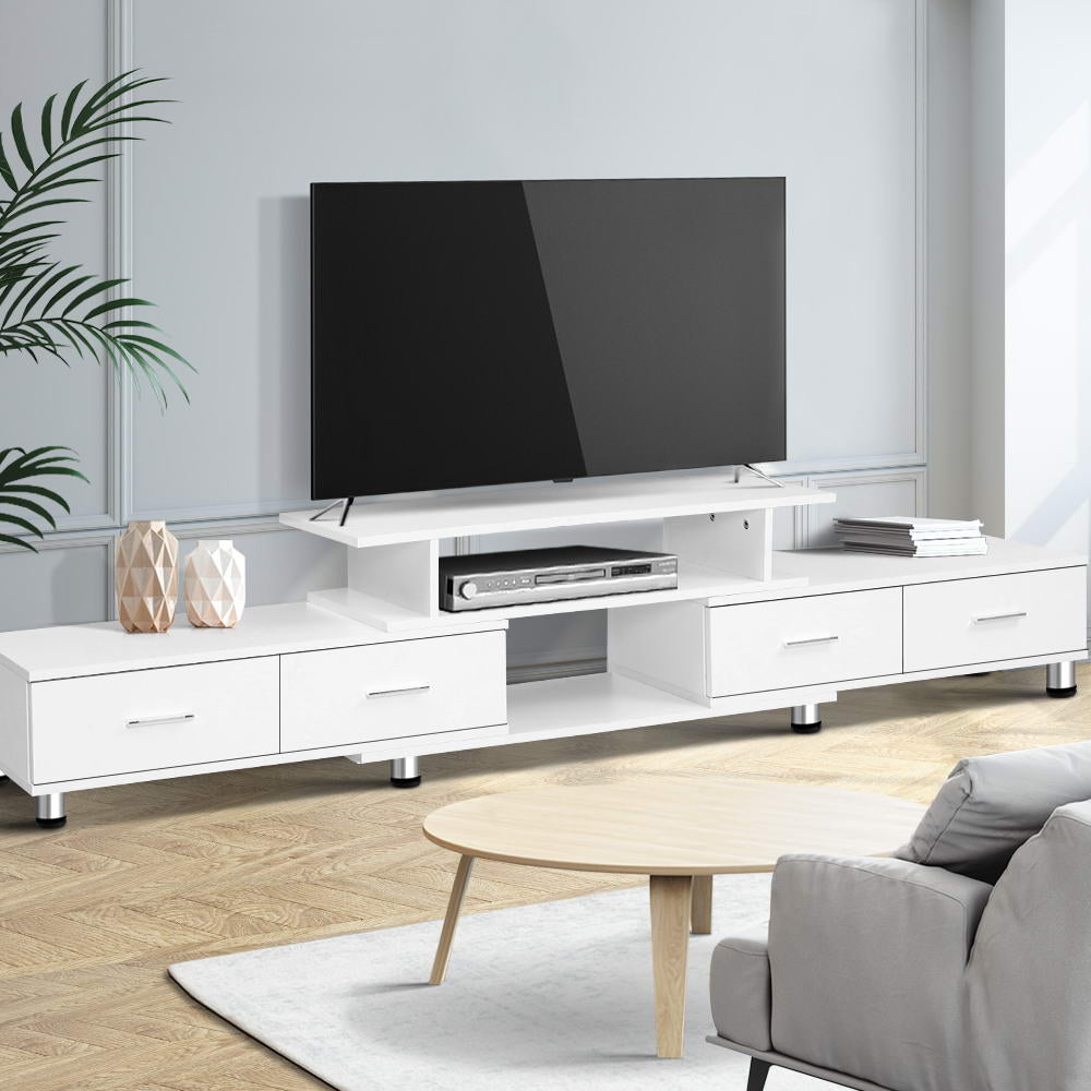 Artiss TV Entertainment Unit 160CM To 220CM Storage White