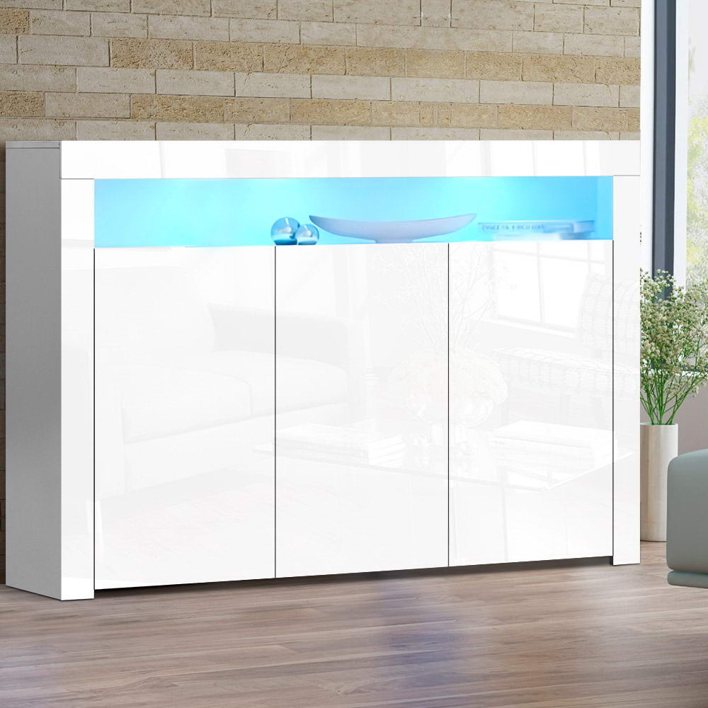 Artiss LED Sideboard White