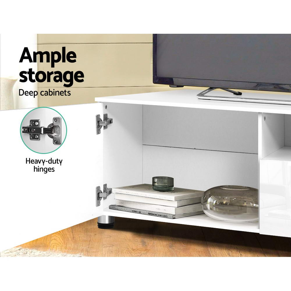 Artiss Entertainment Unit High Gloss Furniture 205cm White