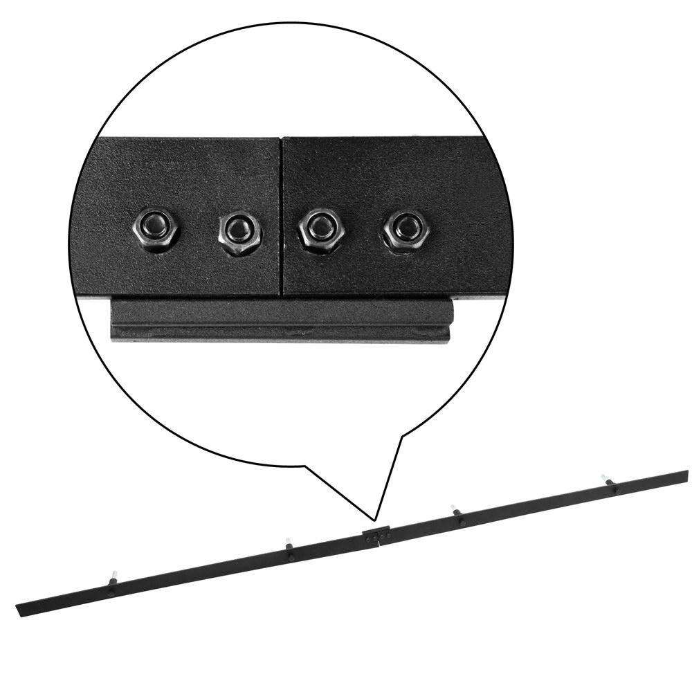 Sliding Barn Door Hardware Track Set Powder Coat Steel Black - Desirable Home Living