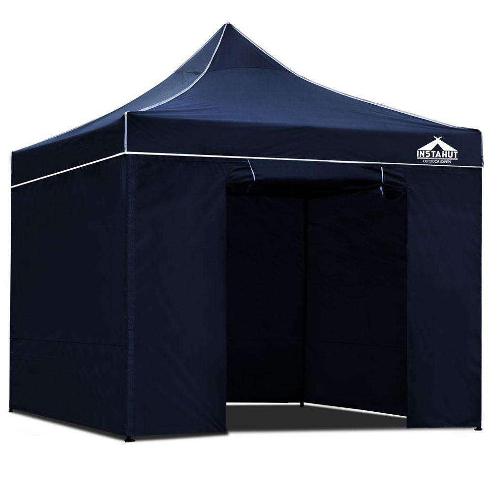 3x3 Pop Up Gazebo Hut with Sandbags Navy