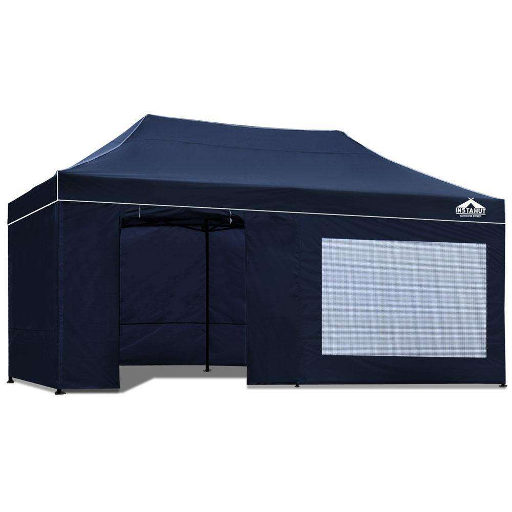 3x6 Pop Up Gazebo Hut with Sandbags Navy