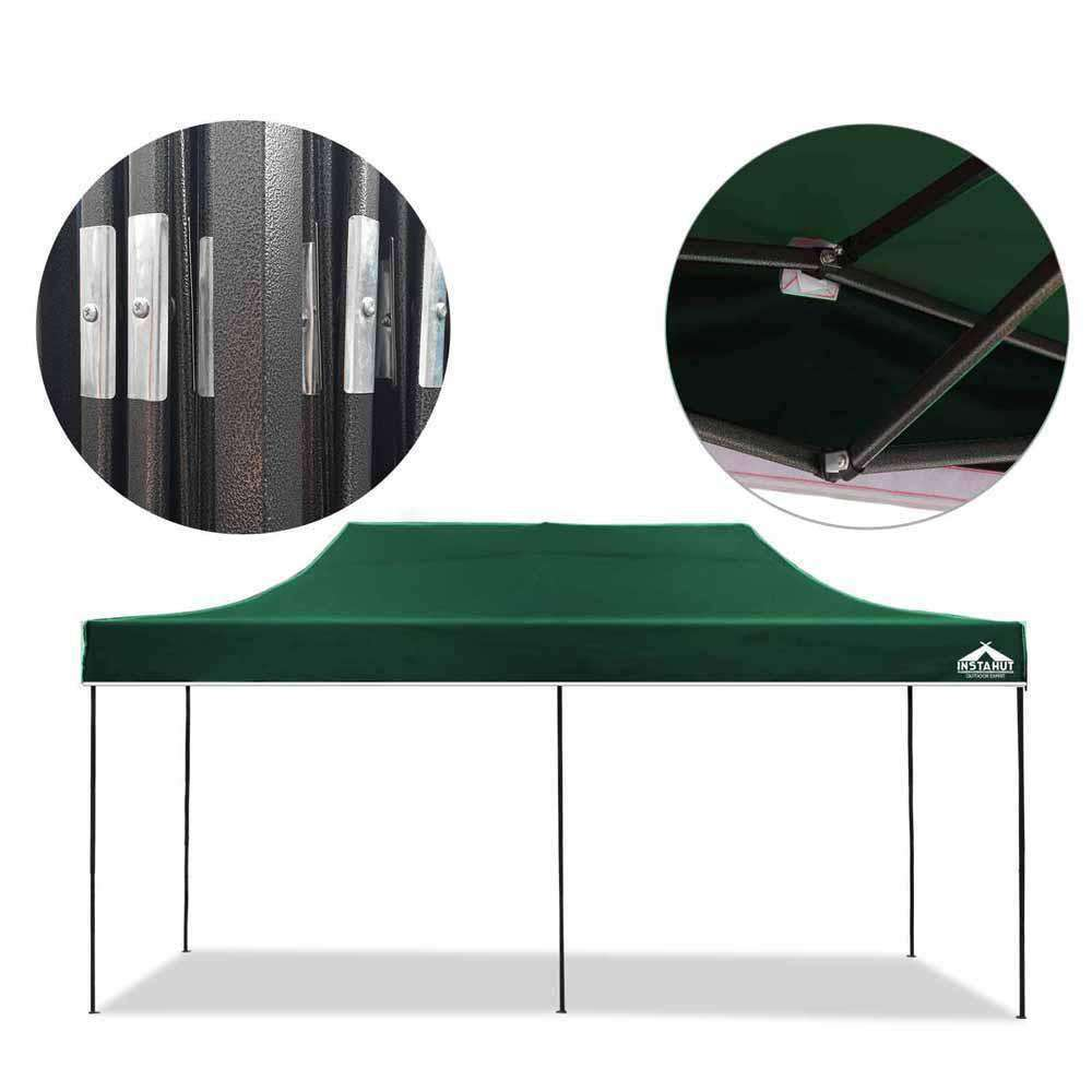 INSTAHUT 3X6M Pop Up Gazebo - Green - Desirable Home Living