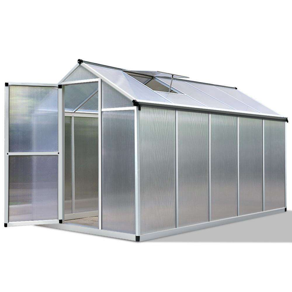 3.02 x 1.9M Polycarbonate Aluminium Green House