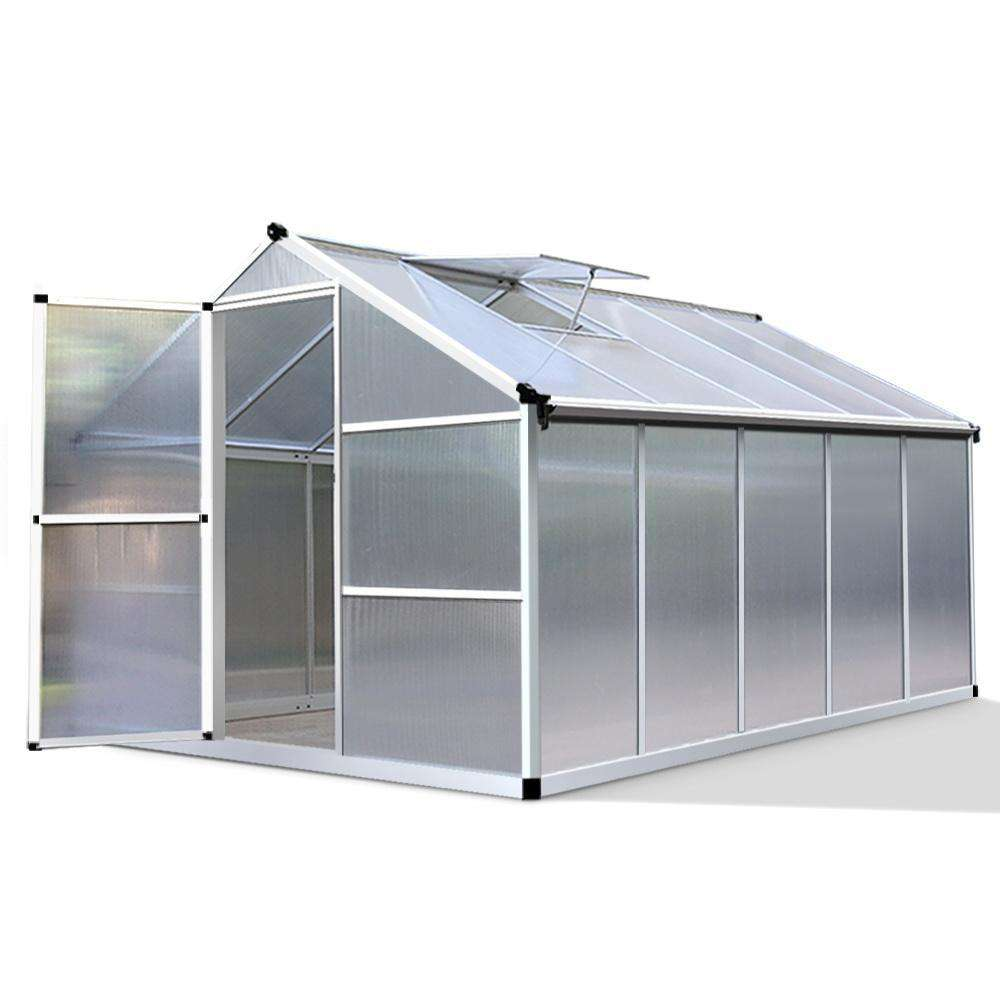 3.02 x 2.5M Polycarbonate Aluminium Green House