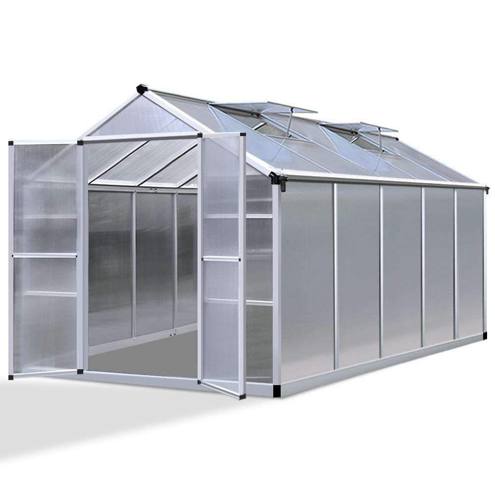 3.08 x 2.5M Polycarbonate Aluminium Green House