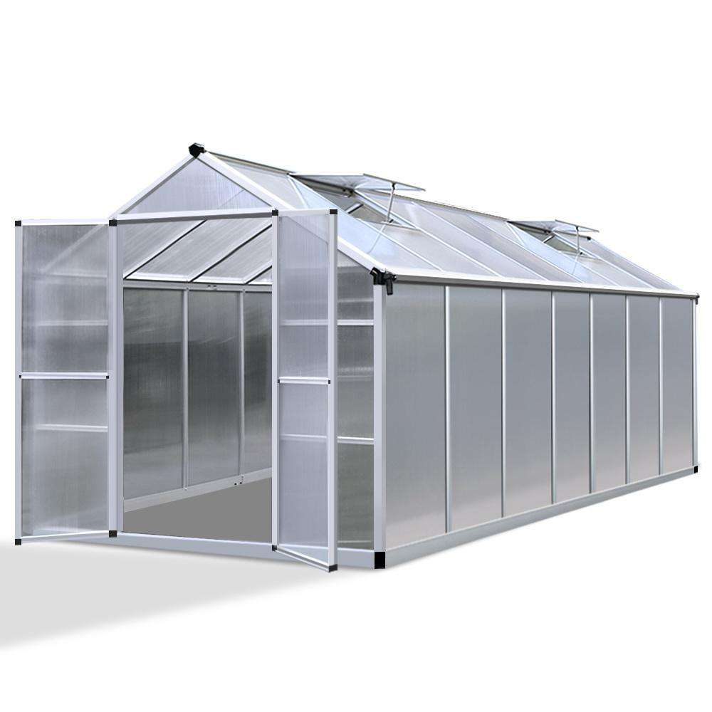 4.1 x 2.5M Polycarbonate Aluminium Green House