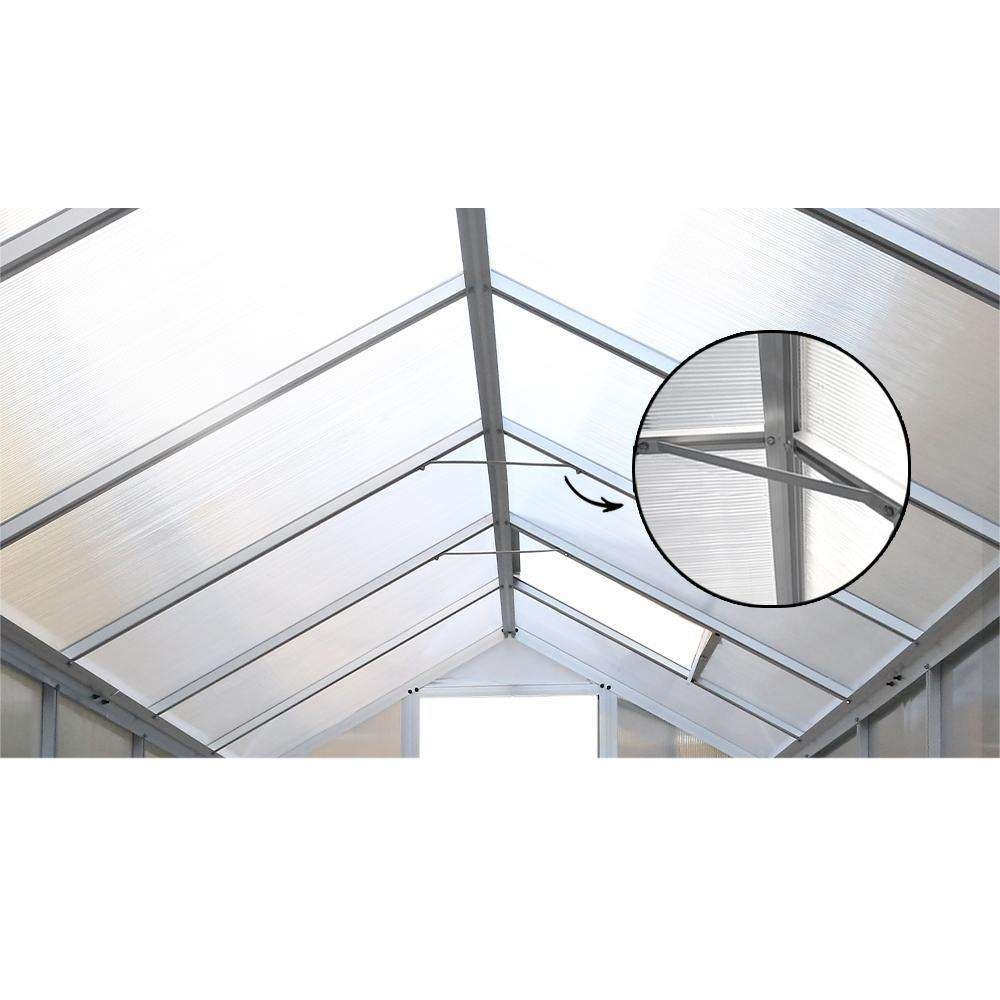 Green Fingers 4.1 x 2.5m Polycarbonate Aluminium Greenhouse
