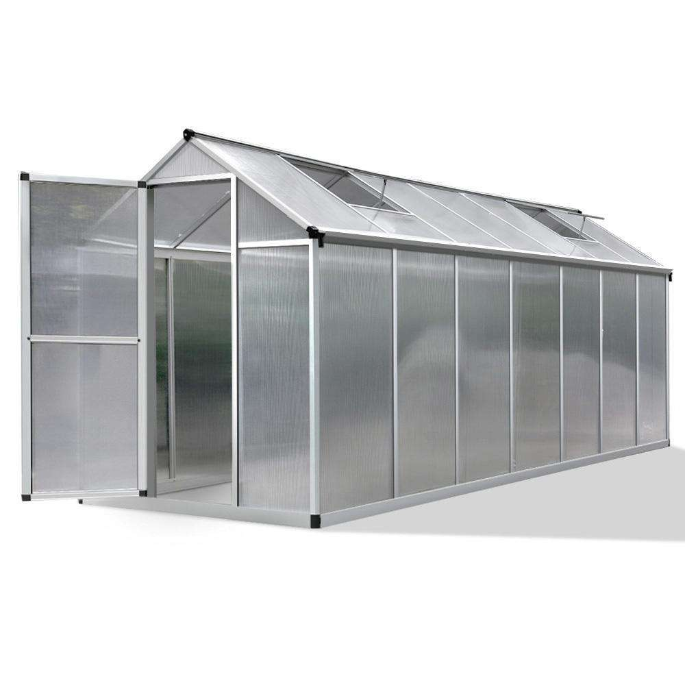 4.2 x 1.9M Polycarbonate Aluminium Green House
