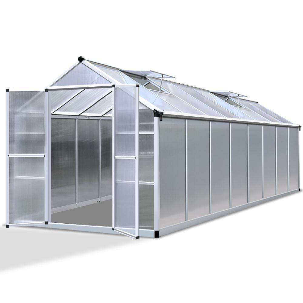 4.7 x 2.5M Polycarbonate Aluminium Green House
