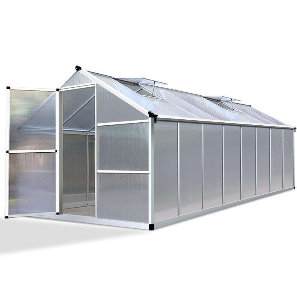 4.82 x 2.5M Polycarbonate Aluminium Green House
