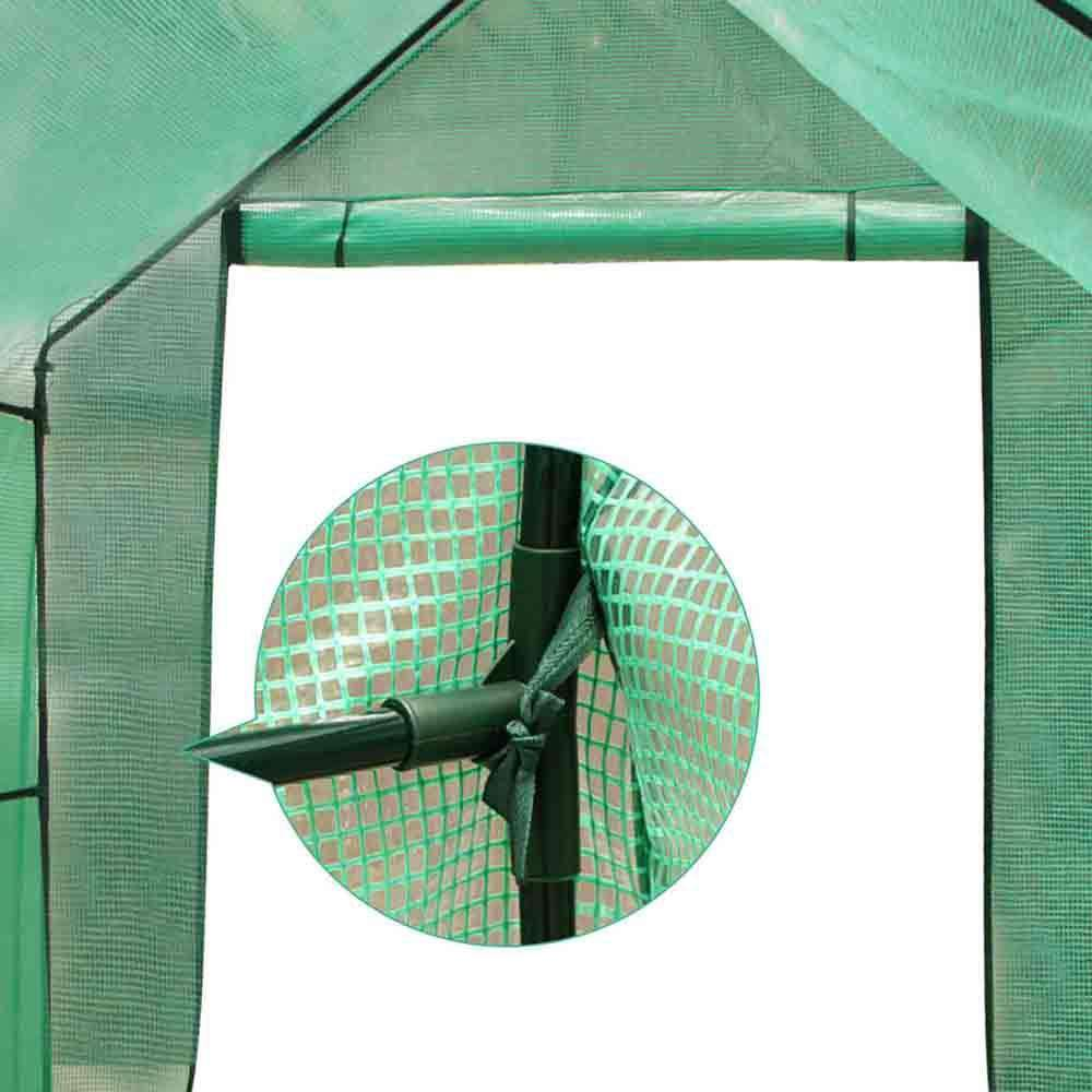 Greenhouse with Green PE Cover - 3.5M x 2M - Desirable Home Living