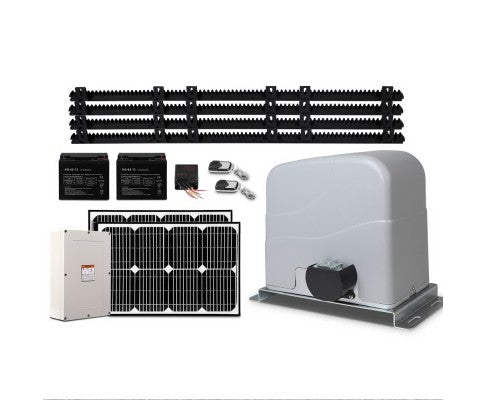 LockMaster 40w Solar Powered Electric AUTO SLIDING GATE OPENER 1200kg 4M Rail