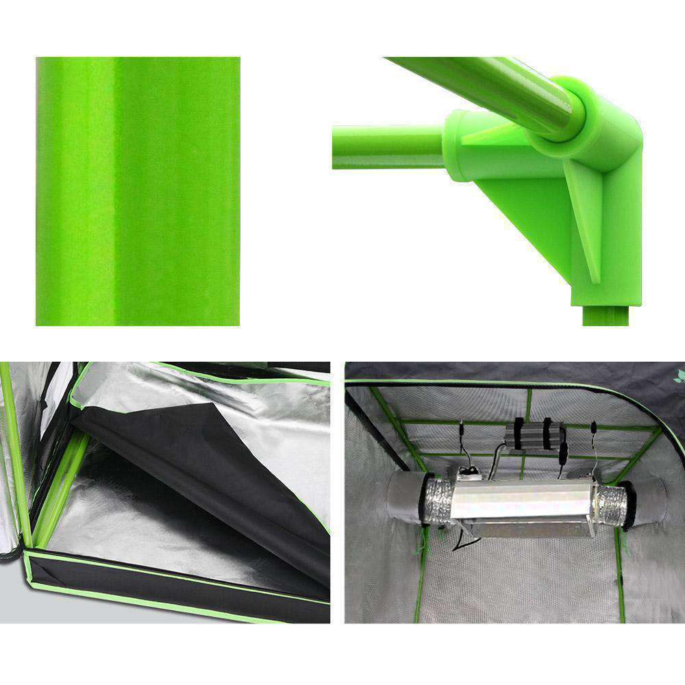 Greenfingers Grow Tents Hydroponics Plant Tarp Shelves Kit 120 x 60 x 120cm