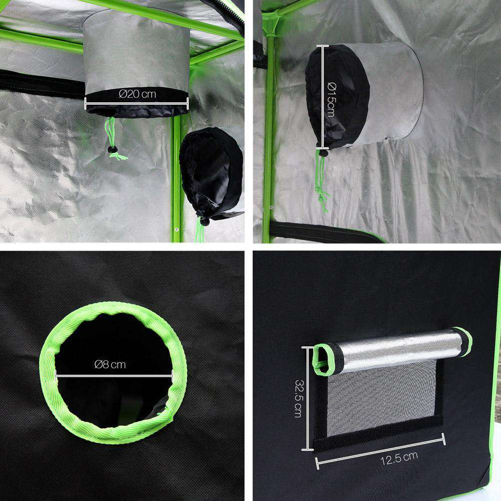 Hydroponic Grow Tent - 150X150X200cm - Desirable Home Living