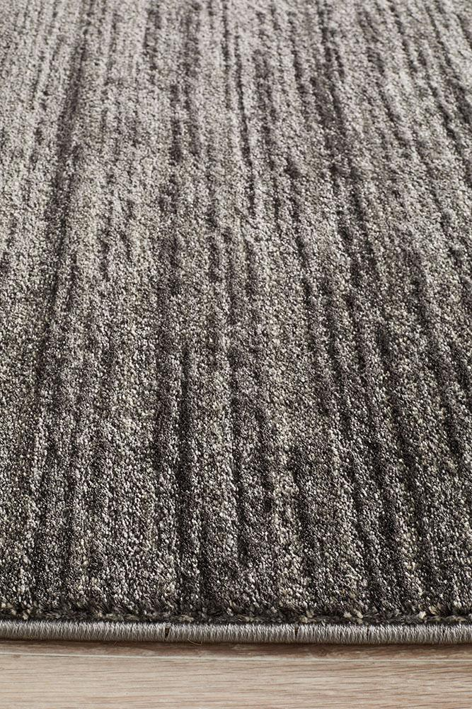Harmony Pandora Contemporary Stripe Charcoal Grey Rug