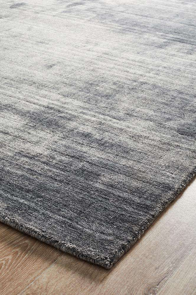 Havana Wool Silky Viscose Dark Grey Rug