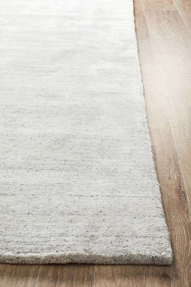 Havana Wool Silky Viscose Light Grey Rug