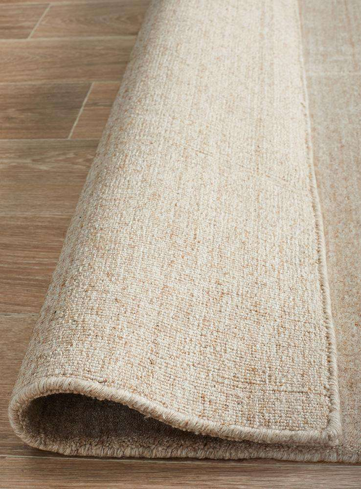 Havana Wool Silky Viscose Light Natural Rug