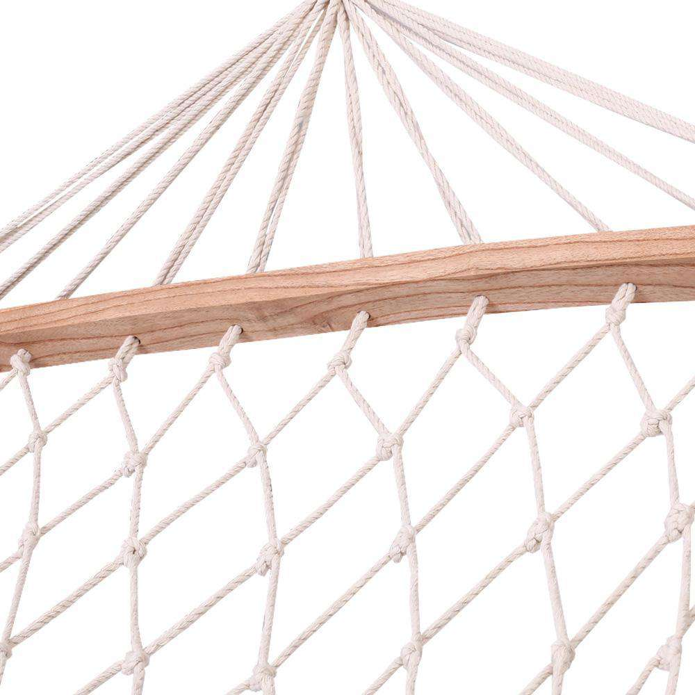 Gardeon Swing Hammock Bed Cream