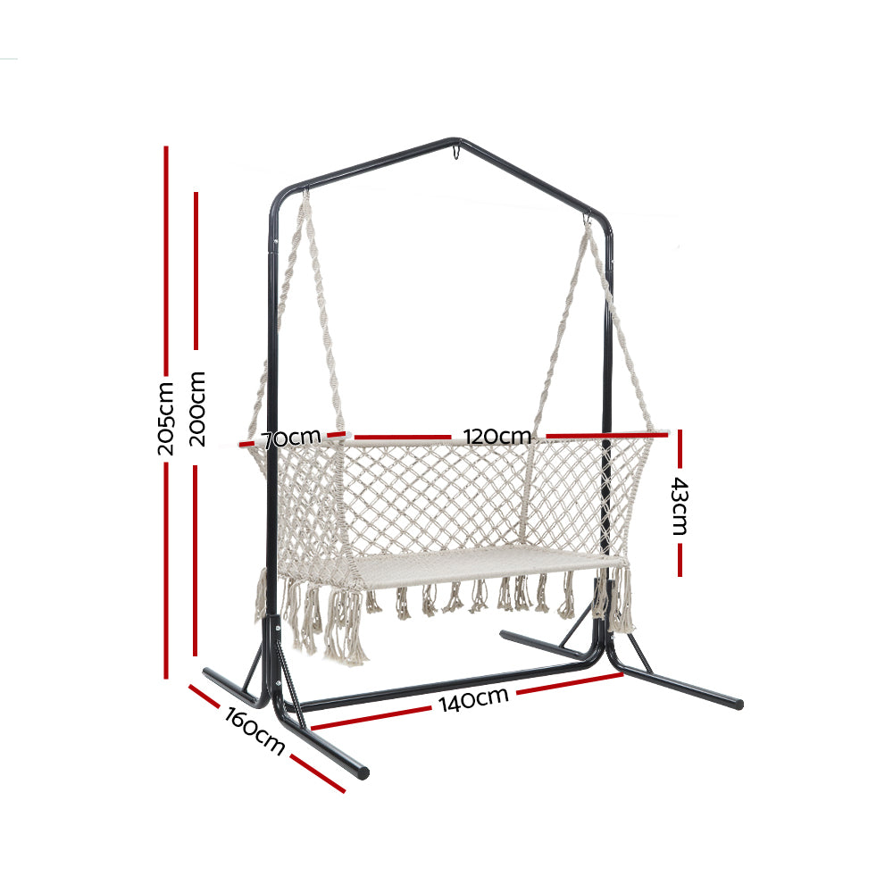 Gardeon Double Swing Hammock Chair with Stand