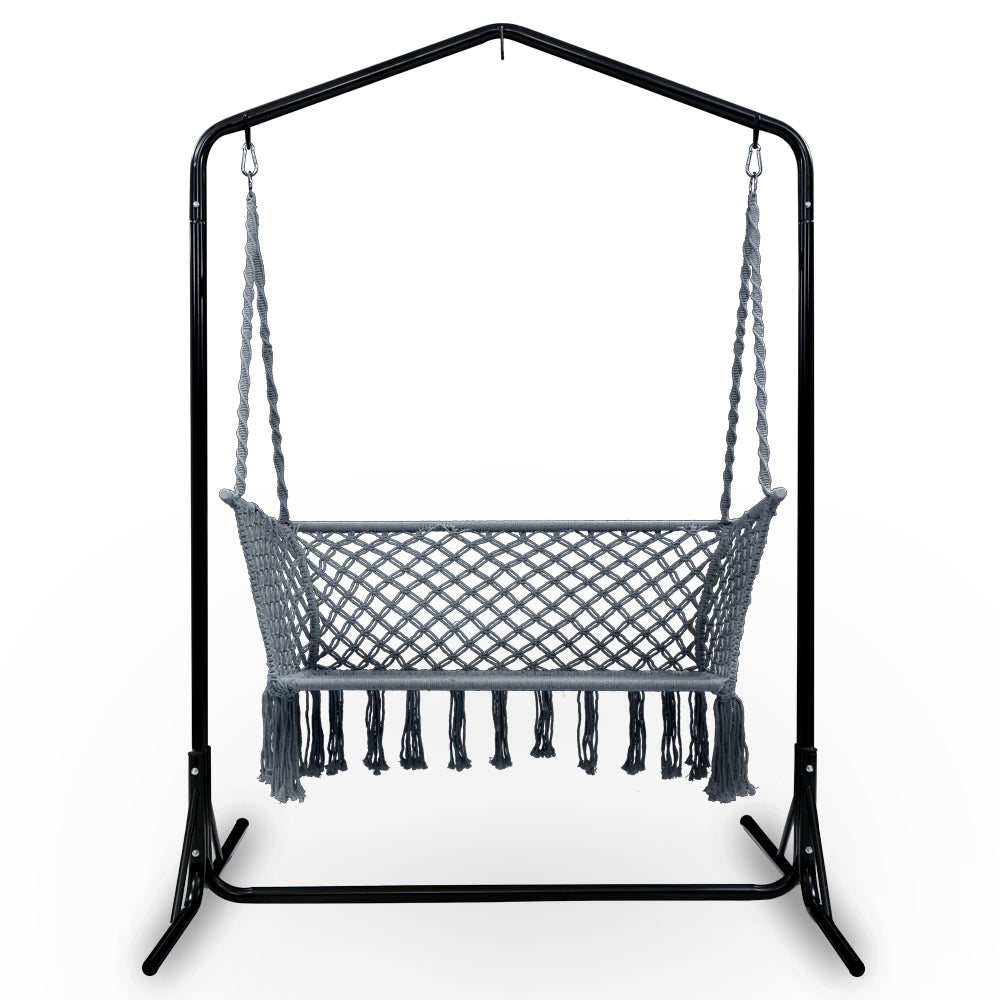 Gardeon Outdoor Swing Hammock Chair with Stand Frame 2 Seater