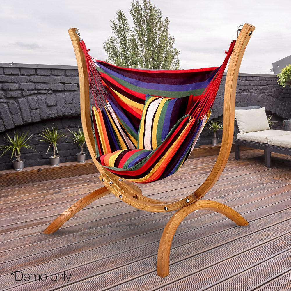 Gardeon Hammock with Wooden Hammock Stand