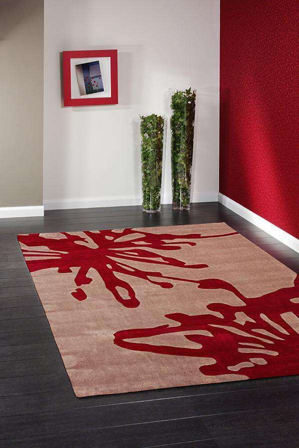 Gold Collection 609 Beige & Red Rug