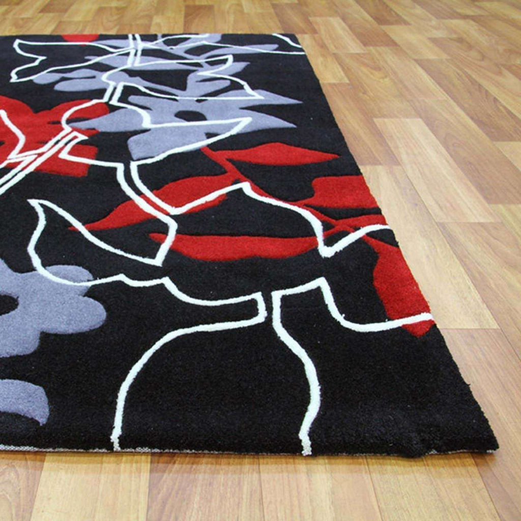 Gold Collection 611 Black Rug