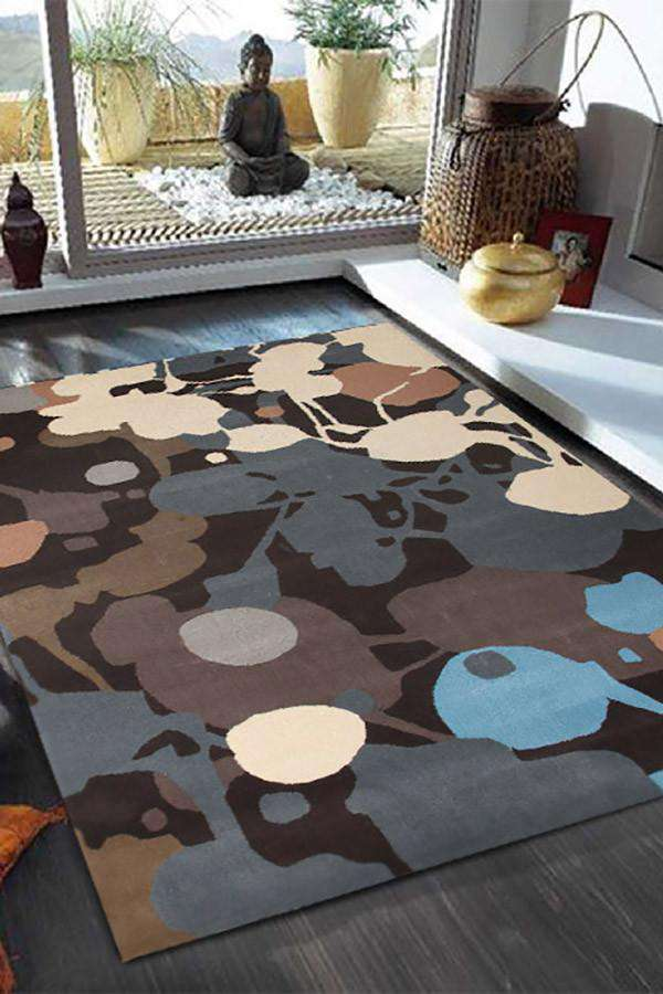 Gold Collection 619 Teal Rug