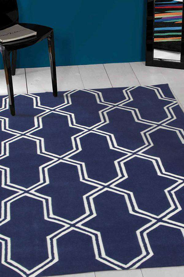 Gold Collection 639 Navy Rug