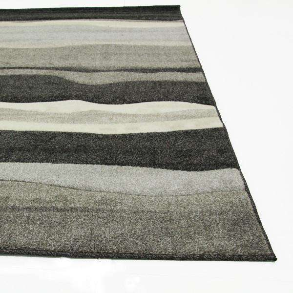 Icon Stunning Thick Wave Rug Charcoal
