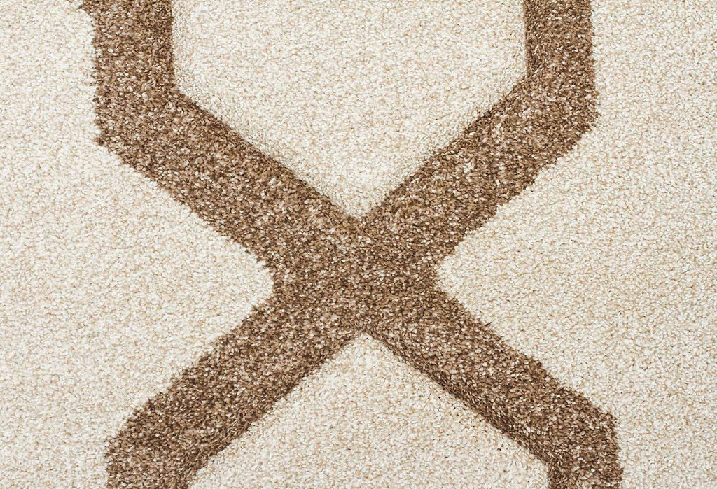Icon Cross Hatch Modern Rug Natural
