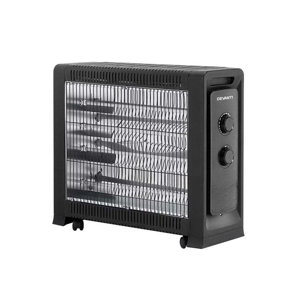 Devanti 2200W Infrared Radiant Heater Portable Electric Convection Heating Panel