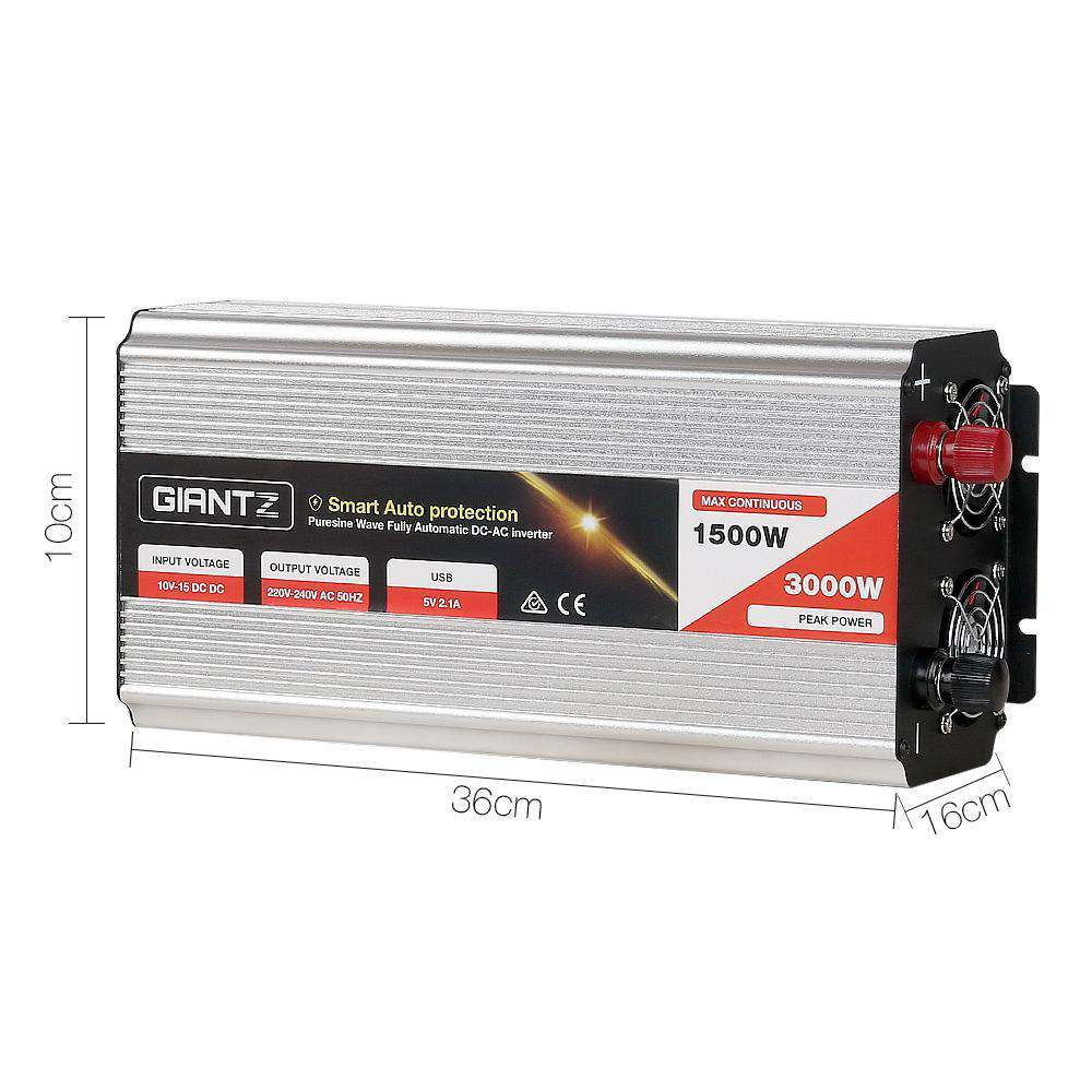 1500W Puresine Wave DC-AC Inverter - Desirable Home Living