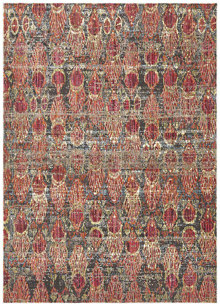 Jezebel Fluid Eclipse Modern Red Rug