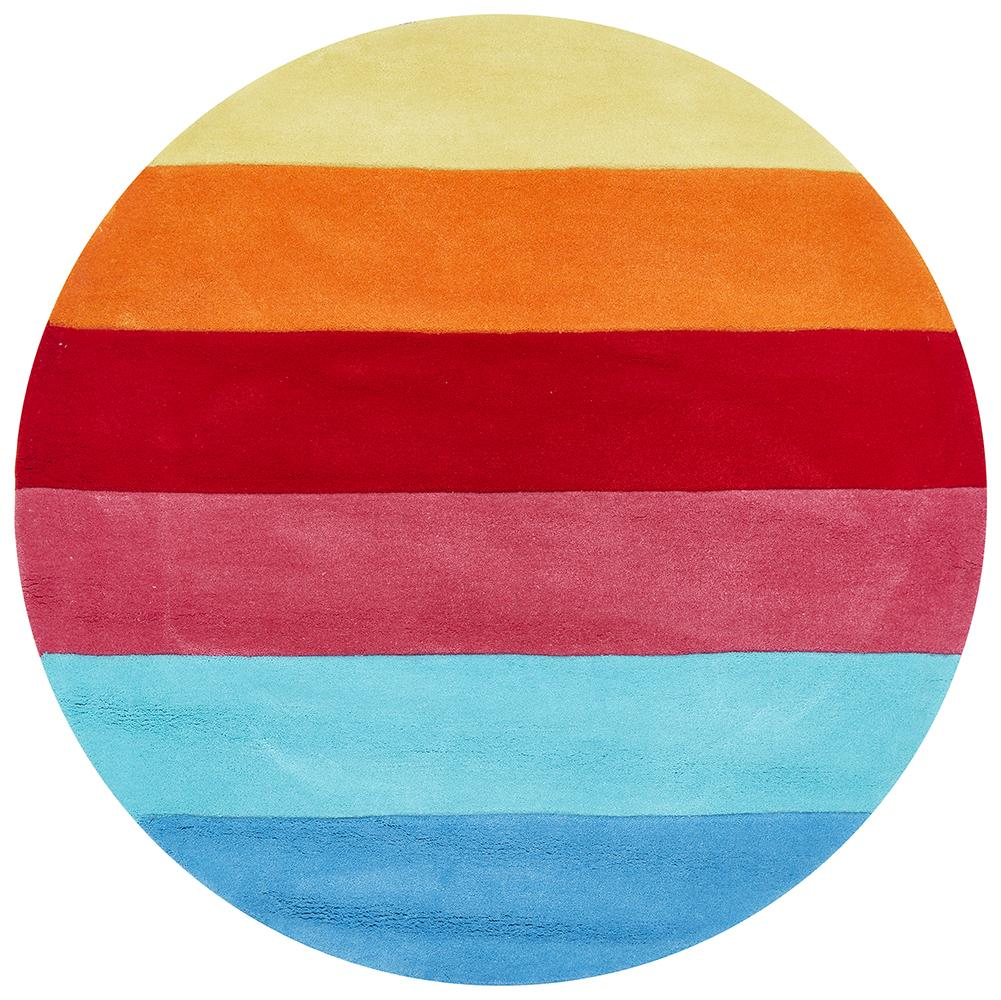 Candy Stripe Round Rug